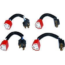 Ceramic H4 Hi Heat Headlight Headlamp Light Bulb Wiring Harness Socket Plug 4X6