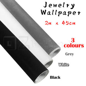 2 Metres Jewelry Wallpaper Roll Self Back Velvet Felt Fabric Adhesive Sticky