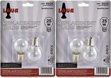 "4 Pack Lava Brand Lava Lamp 25 Watt Replacement Bulbs for 14.5""/20oz lamp"