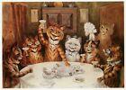 Louis Wain print CATS AT A WEDDING BREAKFAST funny cat illustration art
