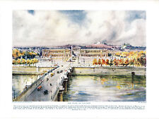 The Place De Concorde, France. Scarce Antique Print circa 1916.