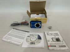 Canon PowerShot A495 10.0MP Digital Camera w/ Box & Cords - BLUE *TESTED WORKING