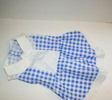 Dorothy Costume Dog Dress Blue White Gingham Pet Size Large