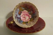 AYNSLEY CUP AND SAUCER SIGNED BAILEY