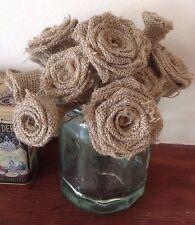 Hessian Roses Stemmed Handmade Bouquets Weddings x 40
