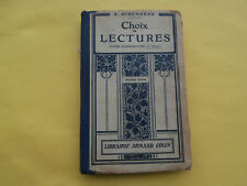 manuel scolaire ancien CHOIX DE LECTURES Cours élémentaire Mironneau COLIN 1928