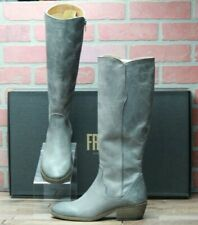 *Frye Carson Piping Tall Graphite Leather Riding Boots New in Box - Size 7.5 M