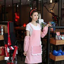 Korea Style Cooking Kitchen Dining Aprons Sleeveless Canvas Women Apron HD