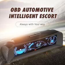 OBD2 Auto HUD Dash Head Up Display Speedometer Slope Meter Inclinometer Compass