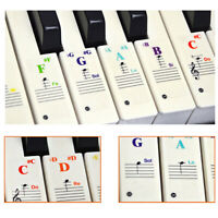 Piano Keyboard Sticker Removable Boldface Stickers For 88/61/54/49/37 Key PVC UK