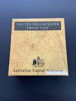 1993 Australian Capital Territory Ten Dollar Silver Proof Coin