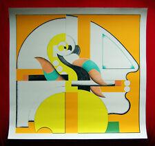 Adam Lude Döring, Farb-Serigraphie, e.a. Raucher 1973, handsigniert