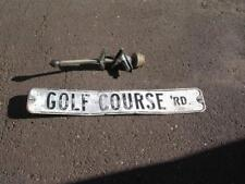 """1950's-1960's """"Golf Course Rd"""" 6"""" x 36"""" 2 Sided Highway Sign w/Mounting Bracket"""