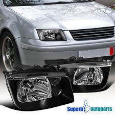 For 99-04 VW Jetta Bora Headlights w/ DRL Fog Lamp Black