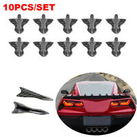 10 Pcs Carbon Fiber Shark Fin Vortex Generator Diffuser Spoiler Roof Windshield