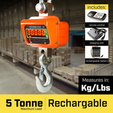 5000 Kg Electronic Crane Scales Industrial Hanging Digital Weight