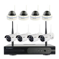 8CH Wireless WiFi Home Business Surveillance Security CCTV System HD IP Cameras
