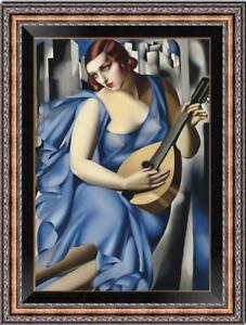 """Hand-painted Oil painting Reproduction OF Tamara de Lempicka girl on Canvas 36"""""""