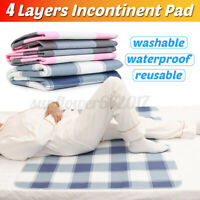 Washable Waterproof Incontinence Bed Pee Pad Elderly Mattress Protector Soft Mat