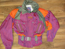 Women's Spyder Ski Winter Coat/Jacket Entrant Fabric Purple Orange Green-Size 12