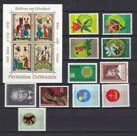 Liechtenstein postfrisch Jahrgang 1970-1979 siehe Bilder