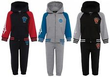 NEW KIDS BABIES BOYS HOODY TOP BOTTOMS TODDLERS TRACKSUIT SET AGE 0-24 MONTHS