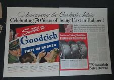 Original 1941 Print Ad GOODRICH Rubber Tires Switch to 70 Years Celbrating