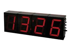 HORLOGE PENDULE A LED ROUGE EN KIT A MONTER  TEMPERATURE ET MESSAGE 230x74x32mm
