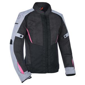 Oxford Iota 1.0 Air Women's Mesh Motorcycle Motorbike Jacket Black Grey & Pink