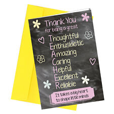 #257 Best Teacher Ever Greetings card Thank You for being a Great Teacher
