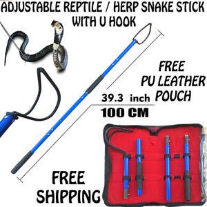 HP ADJUSTABLE Snake Hook Pick up Handling Catching Reptile Jigger Steel Stick