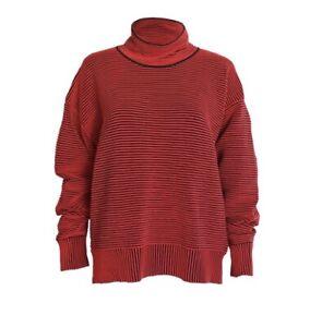Nagnata Red Organic Cotton Rib Sweater RRP $385 S