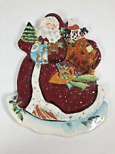SUSAN WINGET Certified International Christmas Santa Shaped Platter
