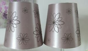 Pair Contemporary Metallic Tall - Table, Bedside or Pendant Lampshades