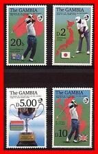 GAMBIA 1985 GOLF MNH SPORTS, MAPS of JAPAN, AUSTRALIA, GREAT BRITAIN (E15)