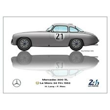 Print on paper Mercedes-Benz 300 SL #21 Lang / Riess Winners 24h LM 1952