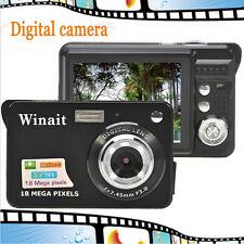 18MegaPixels CMOS 2.7 inch TFT LCD Screen HD 720P Digital Camera 32GB Black
