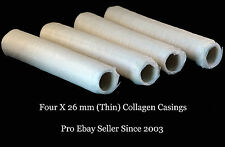 Make The BEST Sausage - Butcher Quality 26mm (Thin) Collagen Casings - FREE Gift