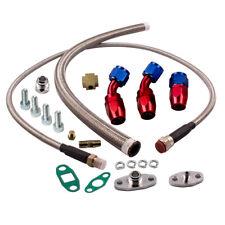 Complete T3/T4 Turbo Oil Return Line & Oil Feed Line T3 T4 T04E Kit Universal