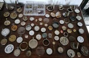 Große Taschenuhr Uhren Konvolut Sammlung Uhrmacher Ersatzteile Bastler Sammler