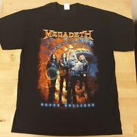 MEGADETH - Super Collider - EUROPEAN TOUR  T- Shirt LARGE metal DAVE MUSTAINE