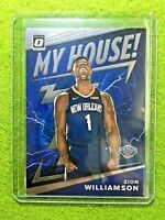 ZION WILLIAMSON ROOKIE CARD JERSEY #1 PELICANS RC 2019-20 Donruss Optic MY HOUSE