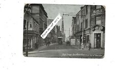 DUNFERMLINE Fife Early Postcard High Street from Top New Row DCI Tea Rooms Tramw