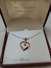 Necklace 18'' Msrp $85.00 18Kt Gold Over Sterling Silver