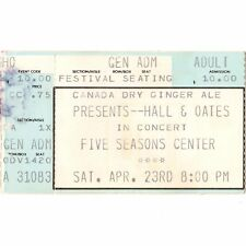 Hall & Oates Concert Ticket Stub Cedar Rapids Ia 4/23/83 Five Seasons H2O Tour