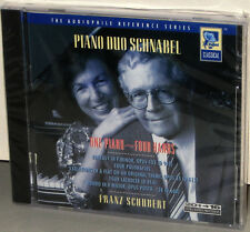 SHEFFIELD LAB CD 10054-2-F: Piano Duo Schnabel - SCHUBERT - OOP 1995 USA SEALED