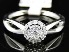 10K White Gold Ladies Round Cut Diamond Engagement Wedding Bridal Ring