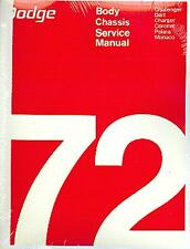1972  72   DODGE CHALLENGER/CHARGER/DART CHASSIS/BODY  MANUAL-2 VOLUMES