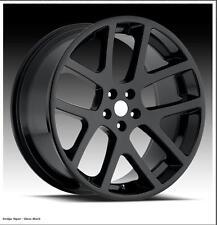4 Matte Black Viper SRT8 Wheels center caps