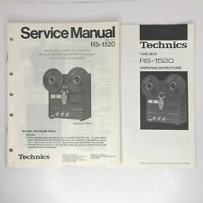 Technics RS-1520 Reel to Reel Tape Deck Service Manual + Operating Instructions